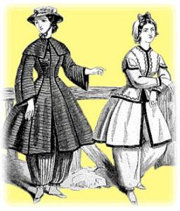 1860s women's bathing suits