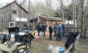 film crew at Westfield